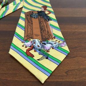 Nicole Miller Vintage 90s Boudoir Silk Tie